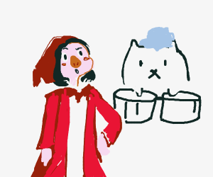 LilRed Riding Hood, but the wolf is bongo cat
