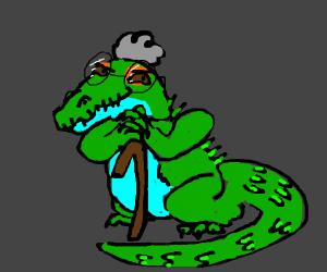 Scheming iguana grandma