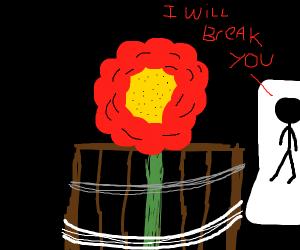 Man threatens Flower
