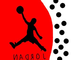 jordan logo backwards
