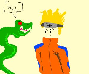 A snake says hi to naruto