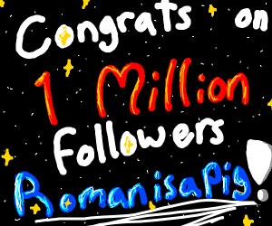 congrats on100,000,000+follows Romanisapig :]