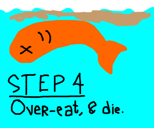 Step 3: you are now goldfish-man