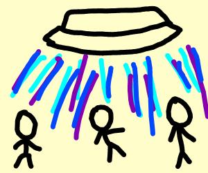 Aliens abducting humans left, right & centre!