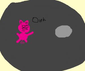oinky on the moon