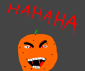 if the annoying orange was a vampire