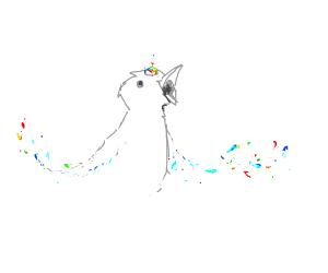 rainbow gem bird with white body