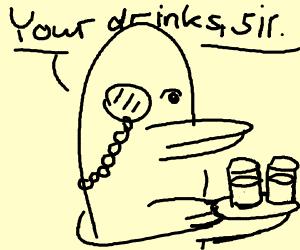 Classy Penguin serves you refreshing drinks!