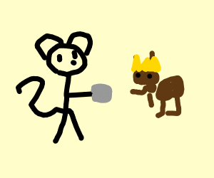 Mickey mouse deals drugs with queen ant