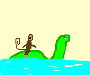 Nessie with monkey on top