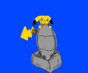 Pikachu eats a nuke