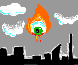 An eye on literal fire