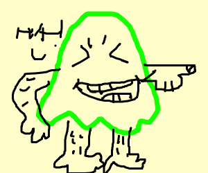 green ghost laughs at you