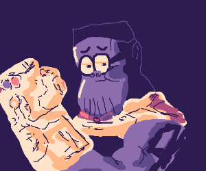 Thanos but he is Steve Urkel