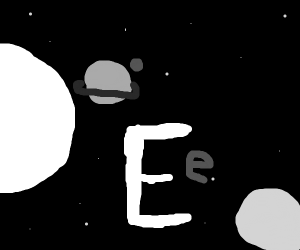 An e in space