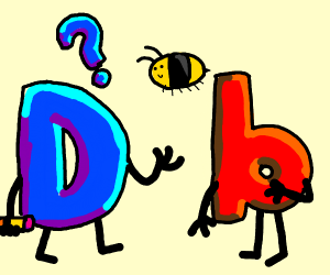 drawception confused at b with bee