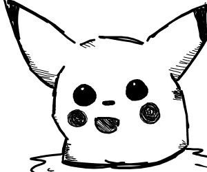 Desolate Pikachu's Decapitated Head