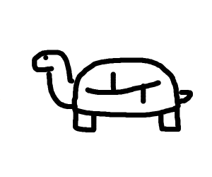monochrome turtle