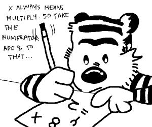 That weird tiger guy from Hobbies doing math