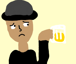 sad men - getting a beer