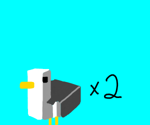 two minecraft seagulls