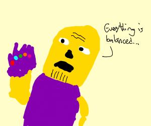 weird yellow man with gauntlet?