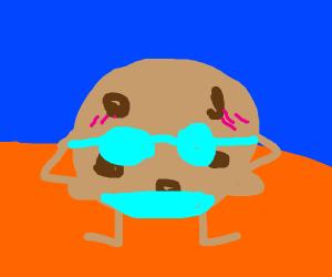 Cookie wearing bikini