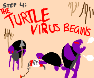 Step 3: Get the turtle stuck up your nose