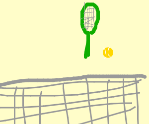 An Invisible Man Playing Tennis