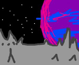 Galactic landscape