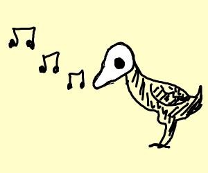 Death bird tweeting