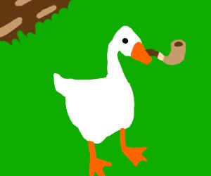 Goose smoke a pipe