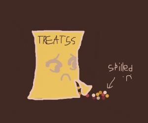 Spilled treats :(