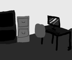 monotone greyscale office
