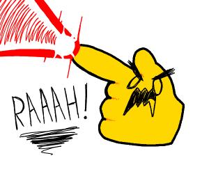 Finger Gun emoji goes full power