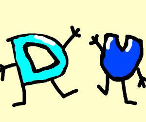 U and drawception D