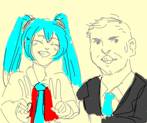 Dominos Miku meme