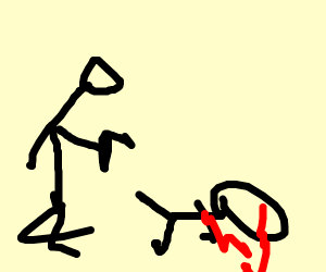 guy shooting someone
