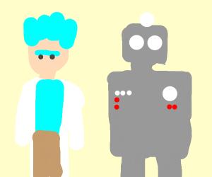 that science brain pop show w guy & robot