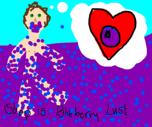 Step 14: Succumb to the blueberries