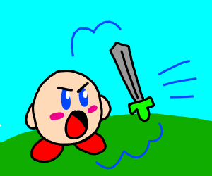 kirby ate someones sword