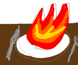 Eating flames