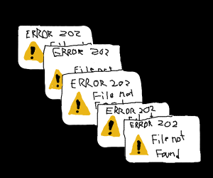 error 202 file does not exist