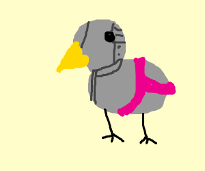 Yikes! Metal Big Bird is wearing girls undies