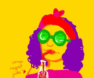 Feminist Wearing Green Glasses