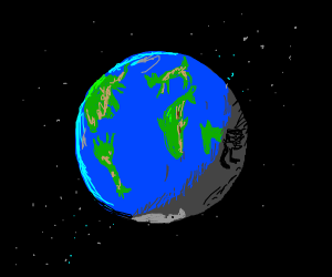 Earth, but the lands are shaped as animals