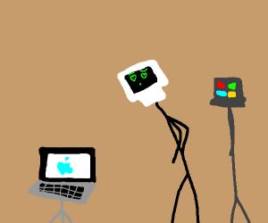 Computer saw a cute laptop