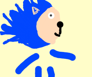 sonic but with no body and just legs and arms