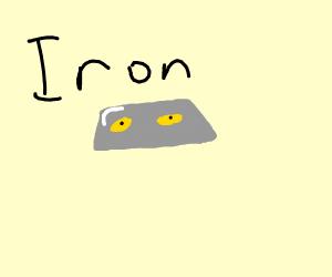 Iron with yellow eyes