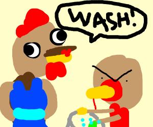 turkey washing clothes